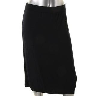 DKNY Womens Straight Skirt Matte Jersey Faux Wrap