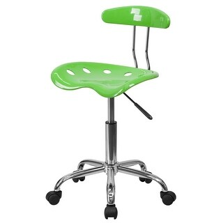 Delacora FF-LF-214 17 Inch Wide Metal Swivel Task Chair with Tractor Seat - N/A
