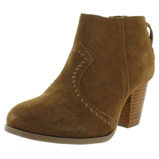 Minnetonka Womens Melissa Booties Suede Comfort - Dusty Brown - 6 Medium (B,M)