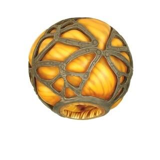 "Meyda Tiffany 21240 4.75"" H Castle Butterfly Orb Shade"