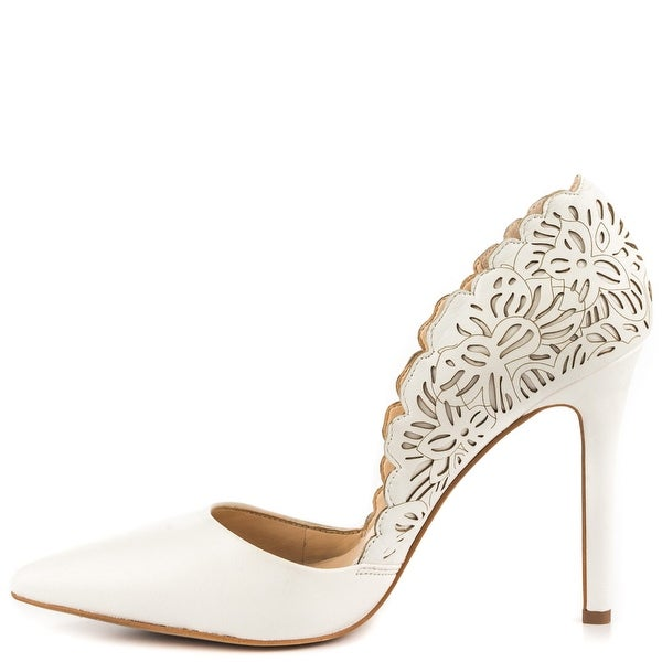 Jessica Simpson Womens Cassel Leather Pointed Toe Classic Pumps