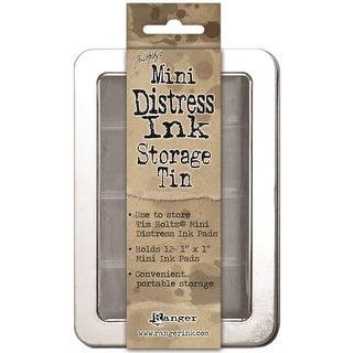 Tim Holtz Mini Distress Ink Storage Tin-Holds 12