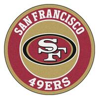 NFL San Francisco 49ers Rounded Non-Skid Mat Area Rug