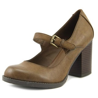 Mia Susy Women Round Toe Synthetic Brown Mary Janes