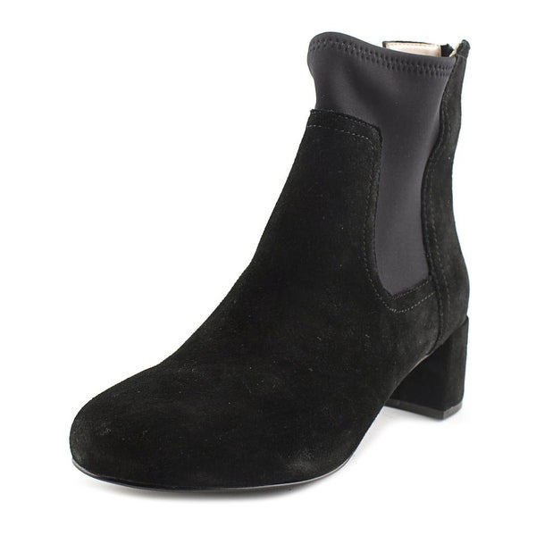 Taryn Rose Louise Round Toe Suede Ankle Boot