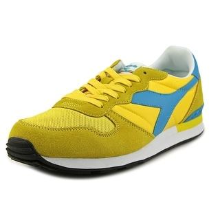 Diadora Camaro Women Round Toe Synthetic Gold Sneakers