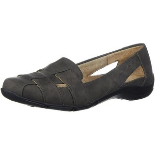 LifeStride Womens dee Suede Closed Toe