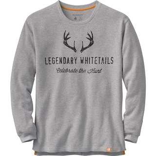 Legendary Whitetails Mens Hunters Escape Thermal Crew - athletic heather
