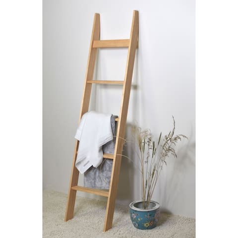 6ft Country Chic Blanket Ladder - Modern Farmhouse - Light Brown - 72 x 17 x 3
