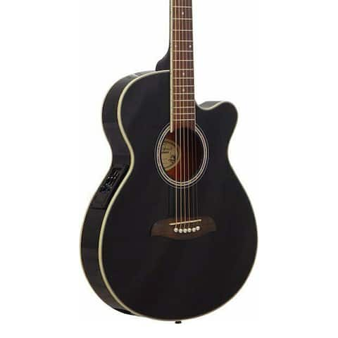 Oscar Schmidt Guitar Dreadnought Acoustic Electric Black OG8CEB