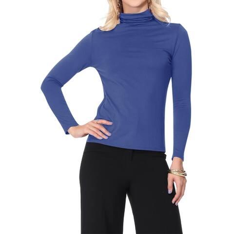 Women's Lightweight Soft Mock Neck Sweater Turtleneck Top