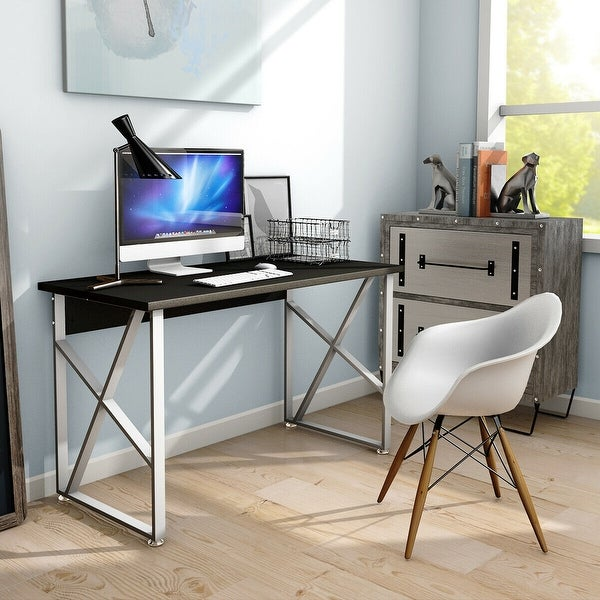 Home Office Computer Desk Pc Laptop Table Metal Leg Workstation Study Furniture Home Garden Furniture