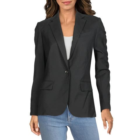 7 For All Mankind Womens Blazer Wool Suit Separate - Jet Black