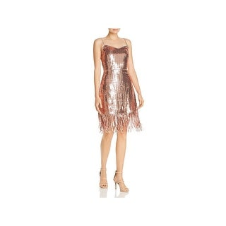 Laundry by Shelli Segal Womens Cocktail Dress Sequin Cami