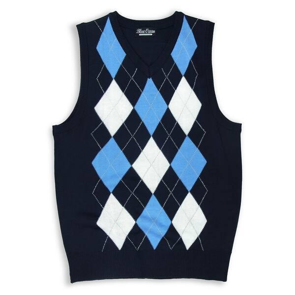 Boys Argyle Sweater Vest (SV-255 BOYS) - Overstock - 14988919