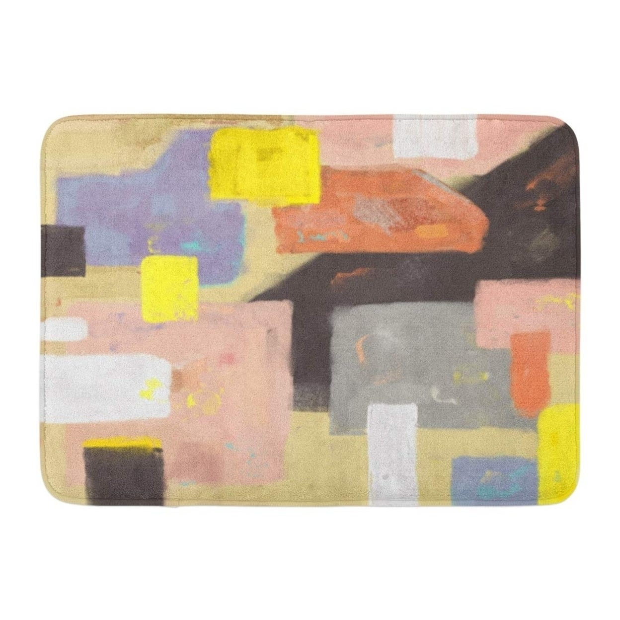 Abstractexpressionism Oil Painting Abstract On Canvas Artistic Brush Color Doormat Floor Rug Bath Mat 23 6x15 7 Inch Multi On Sale Overstock 31779764