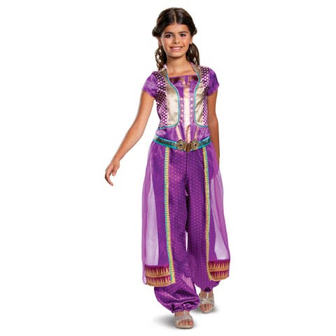 Girls Jasmine Purple Disney Princess Costume
