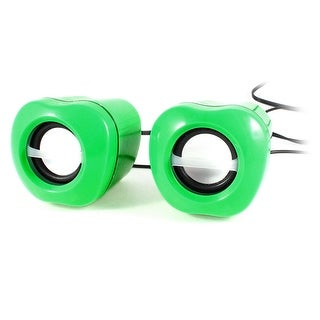 Green Apple Design Volume Control 2.0 Channel USB Mini Sound Box Speaker Pair