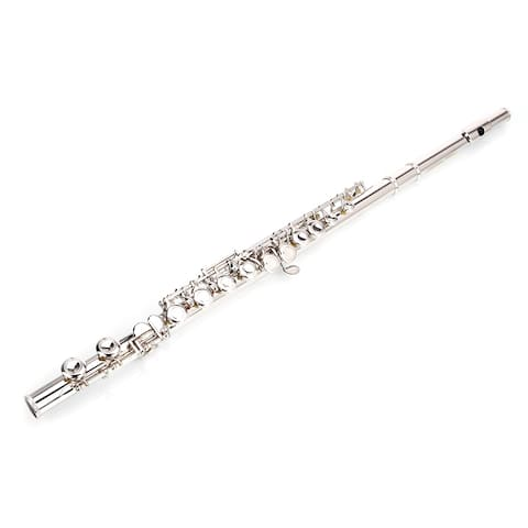 Nickel Plated C Closed Hole Concert Band Flute with E Key