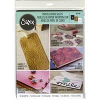 "Sizzix Paper Leather 8.5""X11"" Sheets 10/Pkg-Basics Assorted"