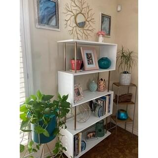 Carson Carrington Brinton White/ Copper Finish Metal Bookcase Etagere