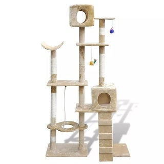 "vidaXL Cat Tree Scratching Post 69"" 2 Condos Beige"