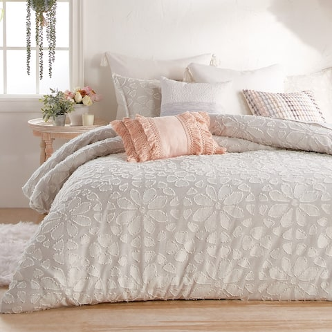 Cameryn Floral Clipped Jacquard Comforter and Sham Set