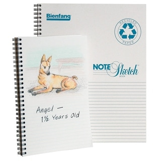 Bienfang Note-Sketch Spiral Binding Horizontal Sketchbook, 60 lb, 8-1/2 X 11 in, 64 Sheets