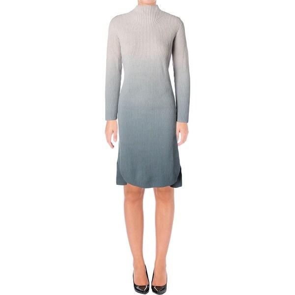 Shop Lafayette 148 Womens Sweaterdress Wool Ombre Free Shipping