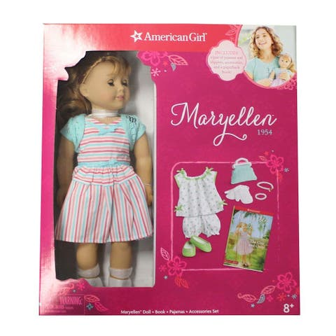 American Girl 18-Inch Maryellen 1954 Doll + PJ Set + Book - Multi