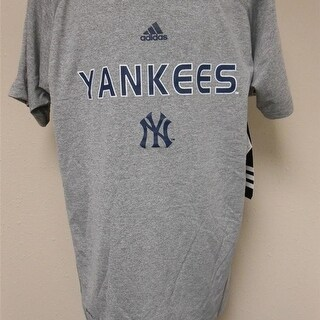 Ny Yankees Shirt Youth M Medium 10/12 Adidas Climalite Shirt