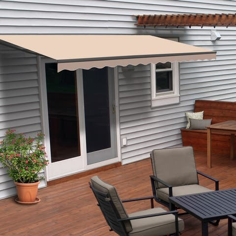 ALEKO Retractable 13 x 10 Feet Home Patio Canopy Awning Beige