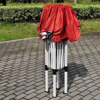 Giantex 8'X8' EZ POP UP Wedding Party Tent Folding Gazebo Beach Canopy W/Carry Bag Red