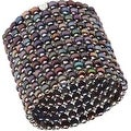 D'AMA 10 Strand Freshwater Cultured Pearl Womens Stretch Bracelet With Stainless Steel Beads - Thumbnail 2
