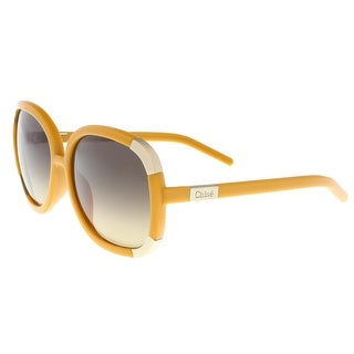 Chloe CL2119 799 Yellow/Beige Square Sunglasses