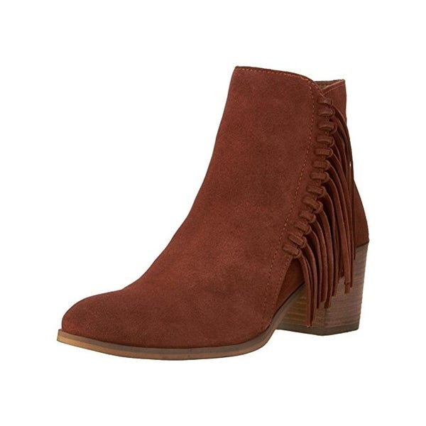 Kenneth Cole Reaction Womens Rotini Cowboy, Western Boots Suede Stacked Heels