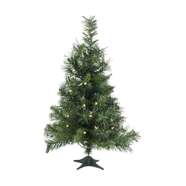 "2' x 14"" Pre-Lit Royal Pine Medium Artificial Christmas Tree - Clear Lights - Green"