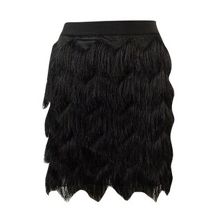 Studio M Women's Chevron Fringed Mini-Skirt - XS