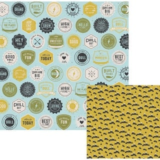 """High Five Double-Sided Cardstock 12""""X12""""-Flair"""