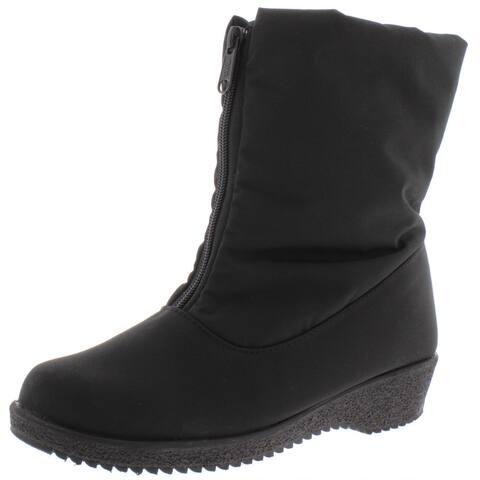 Toe Warmers Womens Jennifer Winter Boots Cold Weather Waterproof - Black