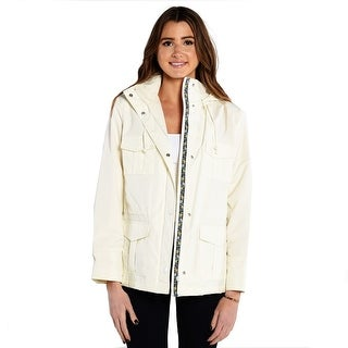 Alia Women's Raincoat In Off White (2 options available)
