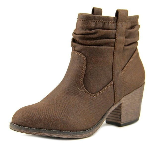 Rocket Dog Scouting 2 Women Pointed Toe Canvas Brown Ankle Boot