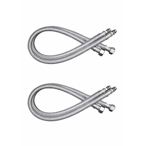 Bathroom Faucet Supply Line Stainless 10mm Male 3/8 Female Pack of 2