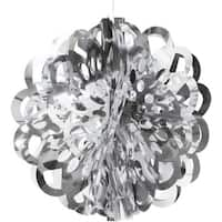 """Club Pack of 12 Silver Die Cut Hanging Metallic Foil Ball Party Decorations 16"""" - GOLD"""