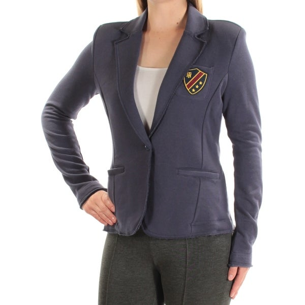 a8a9b90c97e Shop TOMMY HILFIGER  100 Womens New 1504 Navy Embellished Blazer Casual Jacket  S B+B - Free Shipping On Orders Over  45 - Overstock - 22428612