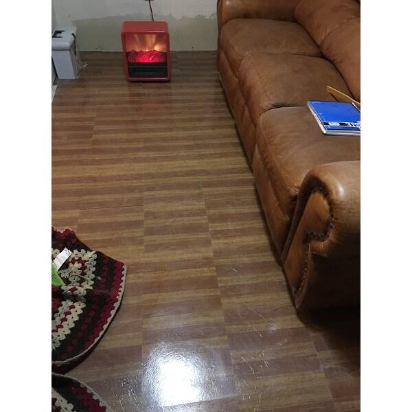 Shop Achim Tivoli Medium Oak Plank Look 12x12 Self Adhesive Vinyl