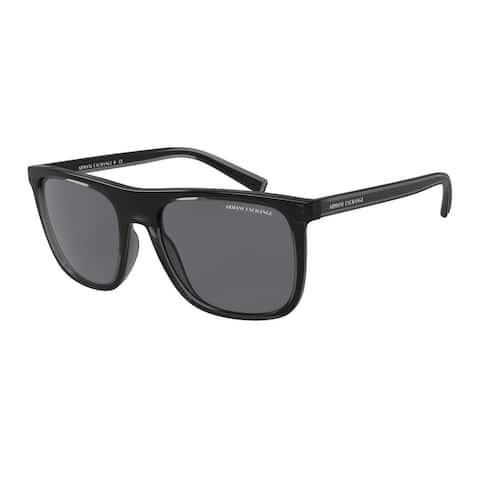Armani Exchange AX4102SF 831887 57 Shiny Black Man Square Sunglasses
