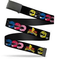 Blank Black  Buckle Power Rangers Faces Turned W Mighty Morphin Power Web Belt
