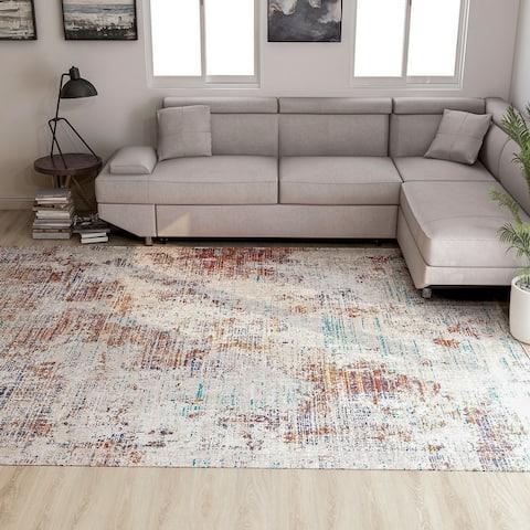 Furniture of America Rasd Contemporary Polyester Area Rug