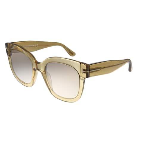 Tom Ford Beatrix-02 TF 613 45F Womens Champagne Brown Lens Sunglasses